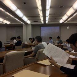 2017/10/5 大学院修士論文中間報告会開催